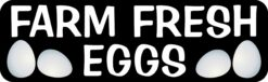 Farm Fresh Eggs Vinyl Sticker