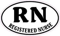 Oval Registered Nurse Vinyl Sticker