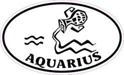 Oval Aquarius Vinyl Sticker