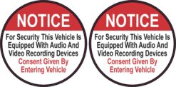 Vehicle Equipped with Audio and Video Recording Devices Vinyl Stickers