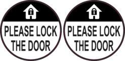 Please Lock the Doors Vinyl Sticker