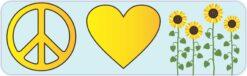 Peace Love Sunflowers Magnet