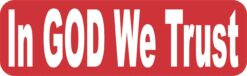 In God We Trust Vinyl Sticker