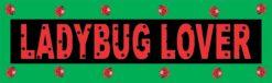 Ladybug Lover Vinyl Sticker