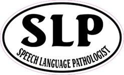 Oval Speech Language Pathologist Vinyl Sticker