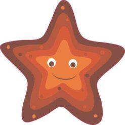 Starfish Vinyl Sticker