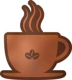 Coffee Cup Vinyl Sticker