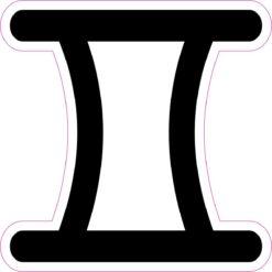 Gemini Symbol Vinyl Sticker
