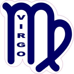 Labeled Virgo Symbol Vinyl Sticker