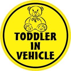 Toddler in Vehicle Vinyl Sticker