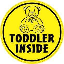 Toddler Inside Vinyl Sticker