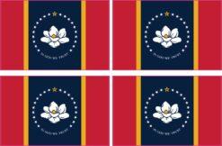 In God We Trust Mississippi Flag Vinyl Stickers