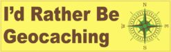 Id Rather Be Geocaching Vinyl Sticker