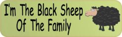 Im the Black Sheep Vinyl Sticker