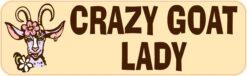 Crazy Goat Lady Vinyl Sticker