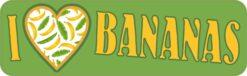I Love Bananas Vinyl Sticker