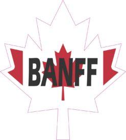 Maple Leaf Banff Vinyl Sticker