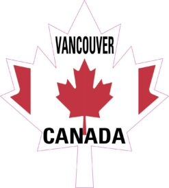 Maple Leaf Vancouver Canada Vinyl Sticker