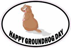 Shadow Happy Groundhog Day Vinyl Sticker