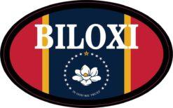 Flag Oval Biloxi Vinyl Sticker