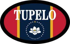 Flag Oval Tupelo Vinyl Sticker