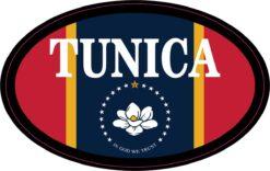 Mississippi Flag Oval Tunica Vinyl Sticker