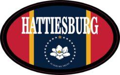 Flag Oval Hattiesburg Vinyl Sticker