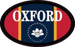Mississippi Flag Oval Oxford Vinyl Sticker
