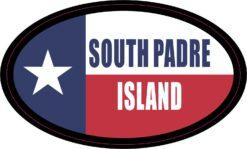 Flag Oval South Padre Island Vinyl Sticker