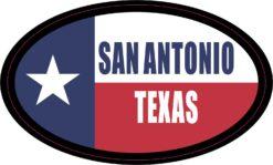 Flag Oval San Antonio Vinyl Sticker
