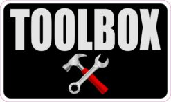 Toolbox Vinyl Sticker