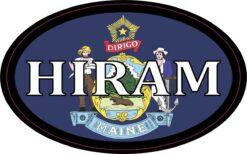 Maine Flag Oval Hiram Vinyl Sticker