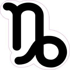 Capricorn Symbol Vinyl Sticker