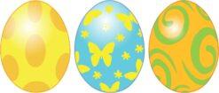 Festive Easter Eggs Vinyl Stickers