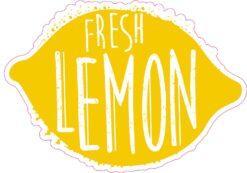 Fresh Lemon Vinyl Sticker