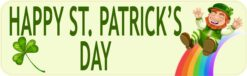 Rainbow Happy St. Patricks Day Magnet