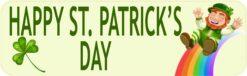 Rainbow Happy St. Patricks Day Vinyl Sticker