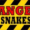 Danger Rattlesnakes Inside Vinyl Sticker
