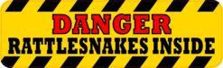 Danger Rattlesnakes Inside Magnet