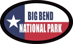 Oval Big Bend National Park Vinyl Sticker