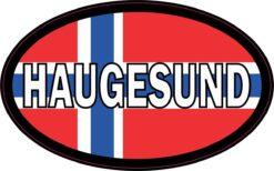 Oval Norway Flag Haugesund Vinyl Sticker