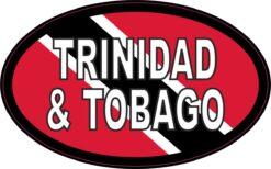 Oval Trinidad and Tobago Vinyl Sticker