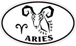 Oval Aries Vinyl Sticker