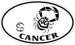 Oval Cancer Vinyl Sticker
