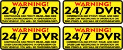 You Will Be Photographed 24/7 DVR Recording Vinyl Stickers