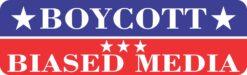 Boycott Biased Media Vinyl Sticker