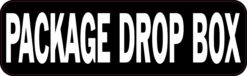 Package Drop Box Permanent Vinyl Sticker