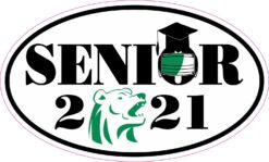 Face Mask Green Bear Senior 2021 Vinyl Sticker