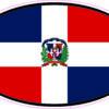 Oval Dominican Republic Flag Vinyl Sticker