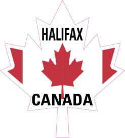 Maple Leaf Halifax Canada Vinyl Sticker